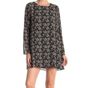 Lucca Couture dress black floral Alexa patterned